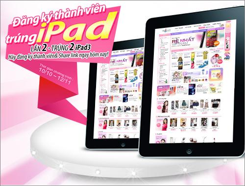 Đăng ký thành viên yes24.vn trúng The New iPad