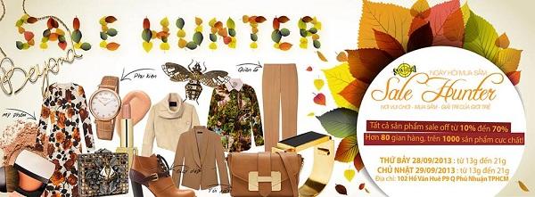 Sale Hunter 28/9 và 29/9 - Phiên chợ mùa thu và cơn mưa quà tặng 1