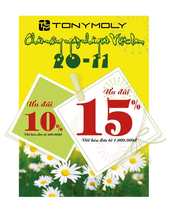 Tonymoly ưu đãi lớn nhân dịp 20/11 1