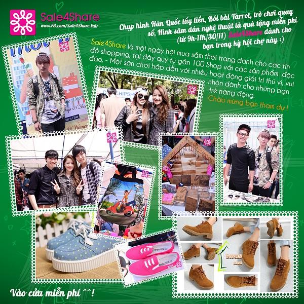 Nhộn nhịp mua sắm cuối tuần cùng Quang Đăng tại Sale 4Share 21