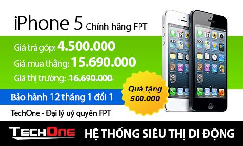 iPhone chính hãng FPT giảm giá mạnh tại TechOne 4