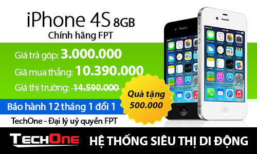 iPhone chính hãng FPT giảm giá mạnh tại TechOne 5