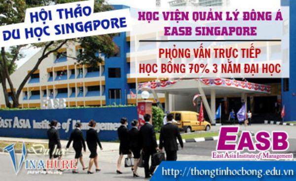 Hội thảo học bổng 70% trường EASB Singapore tại Vinahure 1