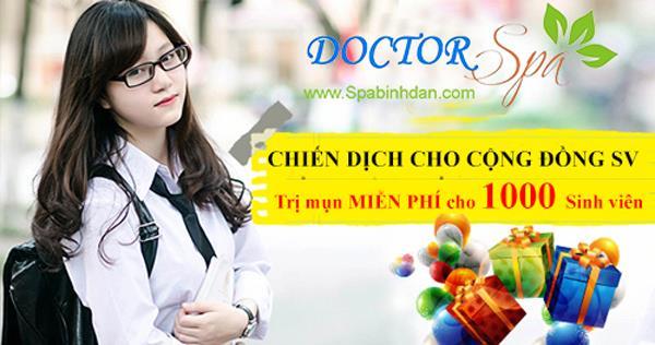Chiến dịch trị mụn miễn phí cho 1000 sinh viên của Doctor Kiệm Spa