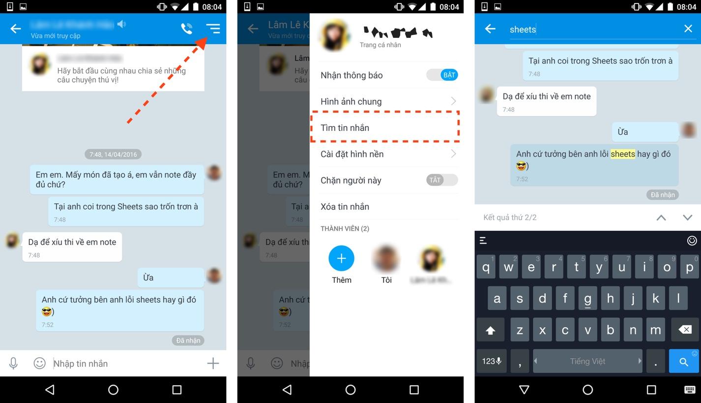 Zalo có thêm tính năng tìm tin nhắn cũ và sao lưu tin nhắn - Ảnh