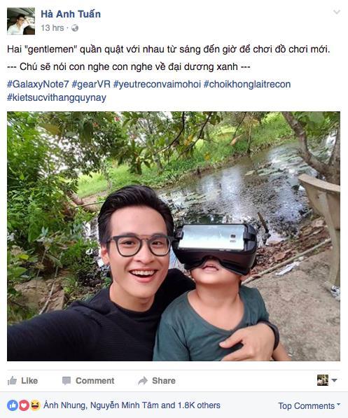 Sao Việt hào hứng dùng công nghệ tìm lại tuổi thơ - Ảnh 1.