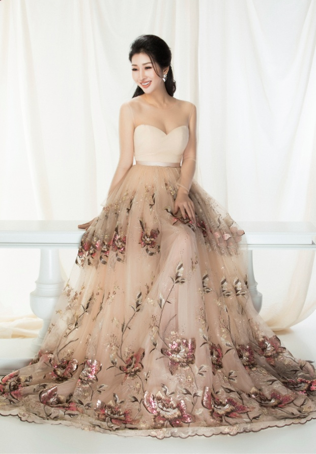 Hoa hậu Đặng Thanh Mai khoe vẻ đẹp đậm chất Á Đông - Ảnh 5.