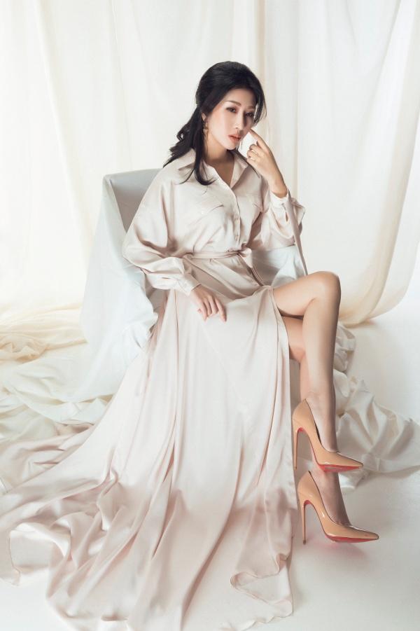 Hoa hậu Đặng Thanh Mai khoe vẻ đẹp đậm chất Á Đông - Ảnh 7.