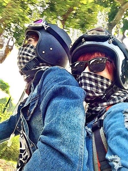 Kết quả hình ảnh cho gái xinh đi phượt bằng moto