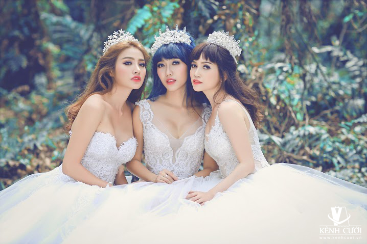 Mê mẩn với bộ ảnh cưới của ba nàng ế - Ảnh 1.
