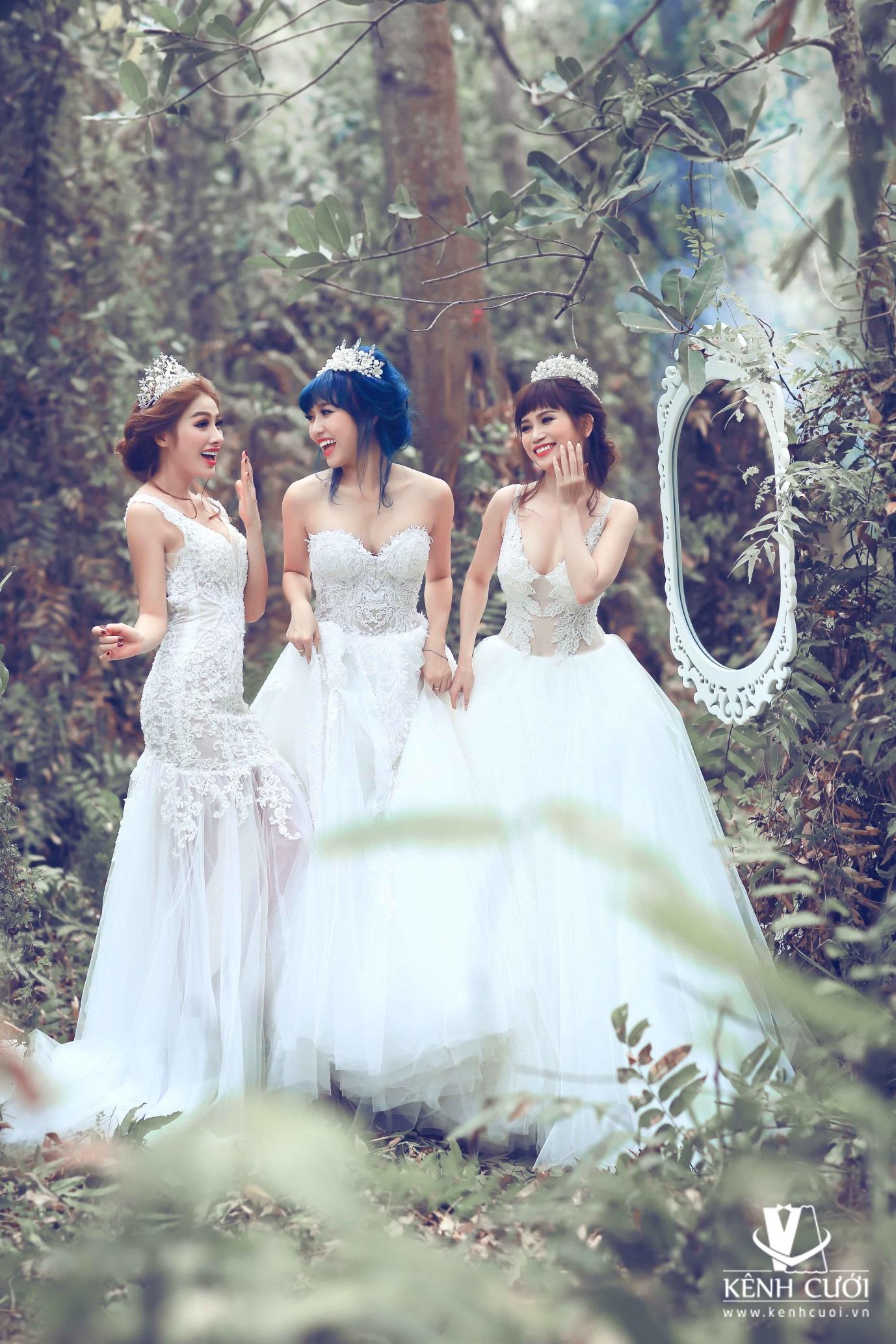 Mê mẩn với bộ ảnh cưới của ba nàng ế - Ảnh 4.