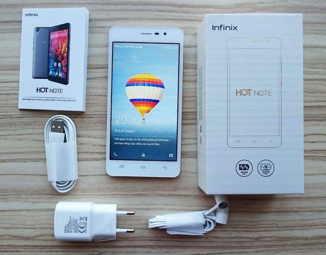 Bộ sản phẩm Infinix HotNote tại thị trường Việt Nam