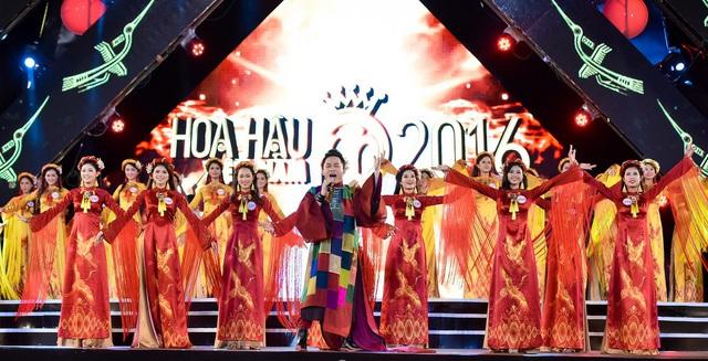 Những chiếc áo dài ấn tượng trong cuộc thi Hoa hậu Việt Nam 2016 - Ảnh 3.