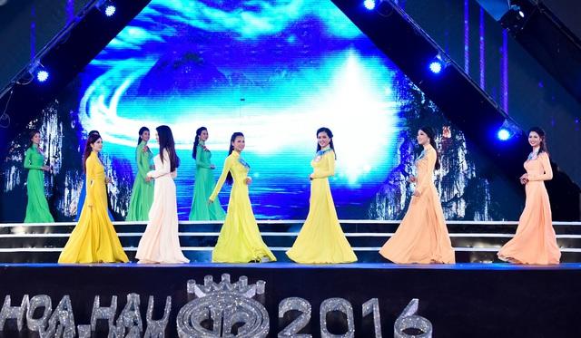 Những chiếc áo dài ấn tượng trong cuộc thi Hoa hậu Việt Nam 2016 - Ảnh 6.