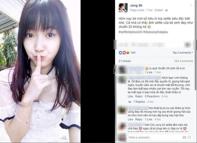 Sau cover nhạc Trịnh, Thánh nữ bolero khiến fan xiêu lòng với ảnh selfie đẹp tuổi 20 - Ảnh 2.