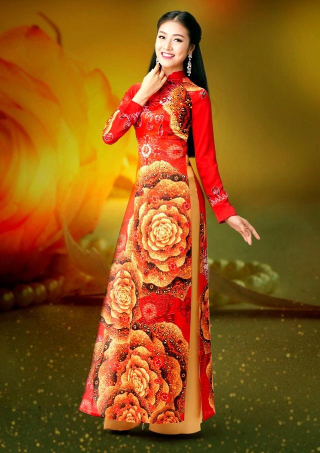 Cảm hứng đá quý trong bộ sưu tập áo dài Ngọc Khuê Các - Ảnh 4.