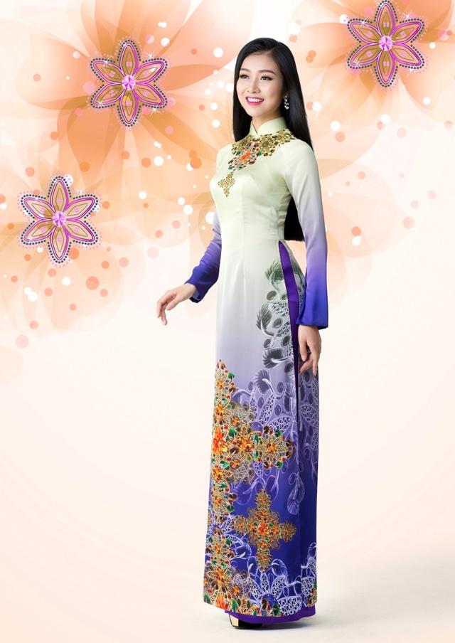 Cảm hứng đá quý trong bộ sưu tập áo dài Ngọc Khuê Các - Ảnh 5.