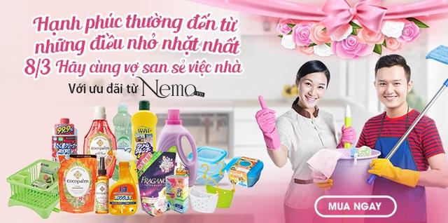 Ngày 8/3 – Hãy cùng vợ san sẻ việc nhà với ưu đãi chỉ có duy nhất tại Nemo.vn - Ảnh 1.
