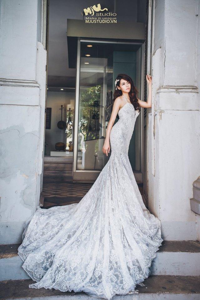 Top 5 mẫu váy cưới hot trend 2017 các cô dâu không nên bỏ lỡ - Ảnh 5.