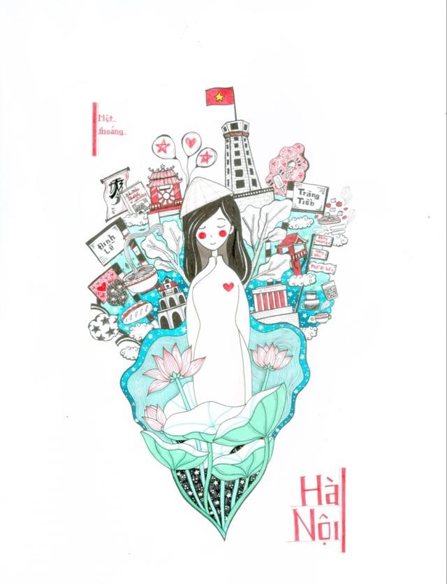 Việt Nam muôn màu qua những nét hoạ của học sinh - Ảnh 5.