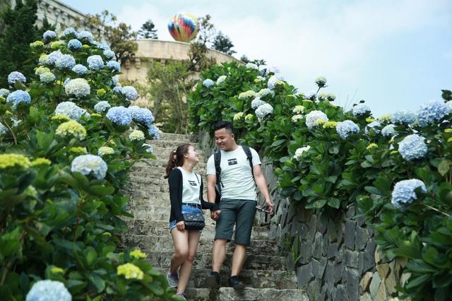 Đến Bà Nà Hills ngắm hơn 100 loài hoa đua nở - Ảnh 11.