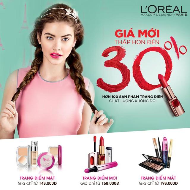 Hơn 100 sản phẩm trang điểm L'Oréal Paris có giá mới thấp hơn đến 30% - Ảnh 1.