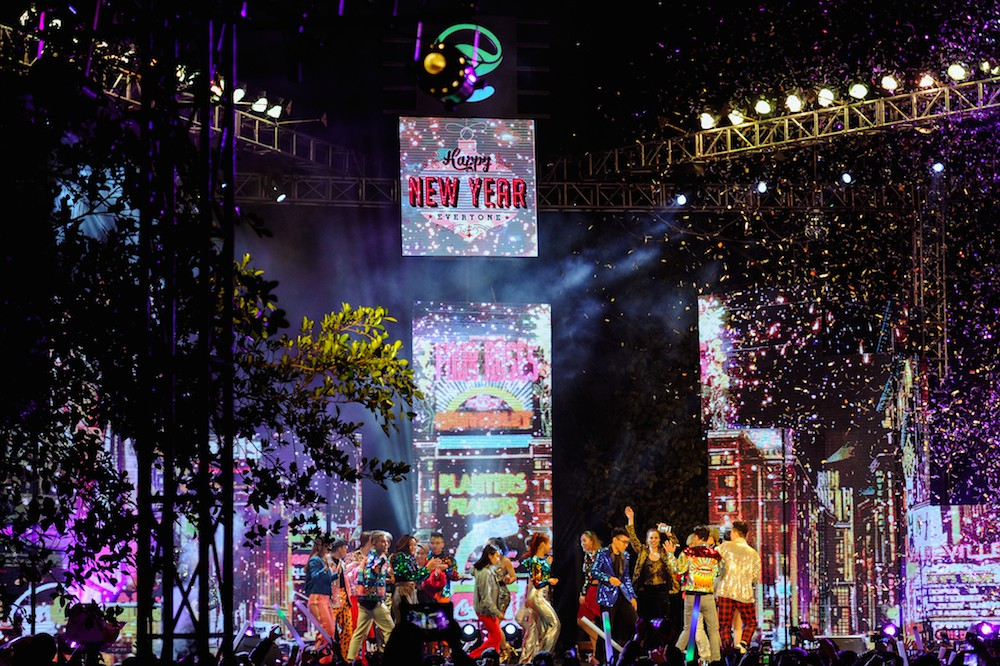 Cư dân Ecopark mãn nhãn với màn pháo hoa đón năm mới - Ảnh 3.