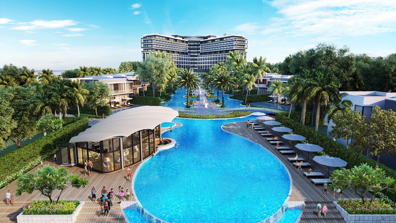 Choáng ngợp trước vẻ sang chảnh tuyệt đẹp của resort đẳng cấp phong cách Mỹ tại Phú Quốc - Ảnh 1.
