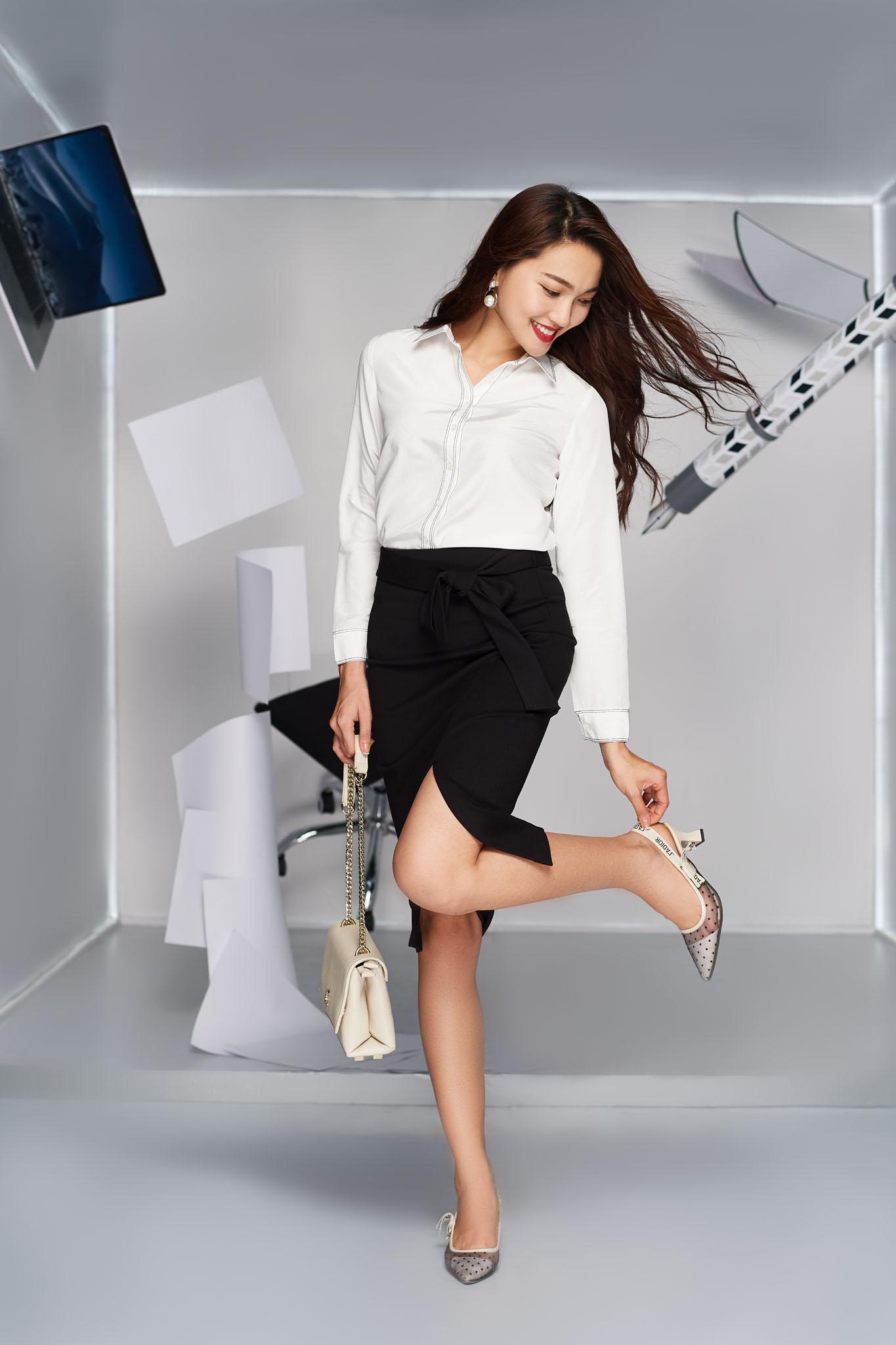 Làn gió mới cho thời trang công sở với những chuyển động cá tính - Ảnh 4.
