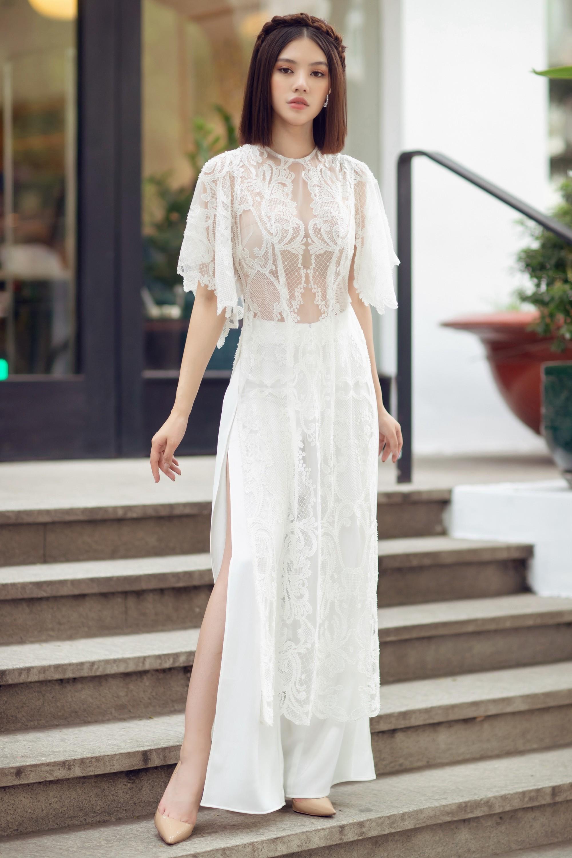 Duyên dáng và năng động khi diện áo dài như Jolie Nguyễn - Ảnh 9.