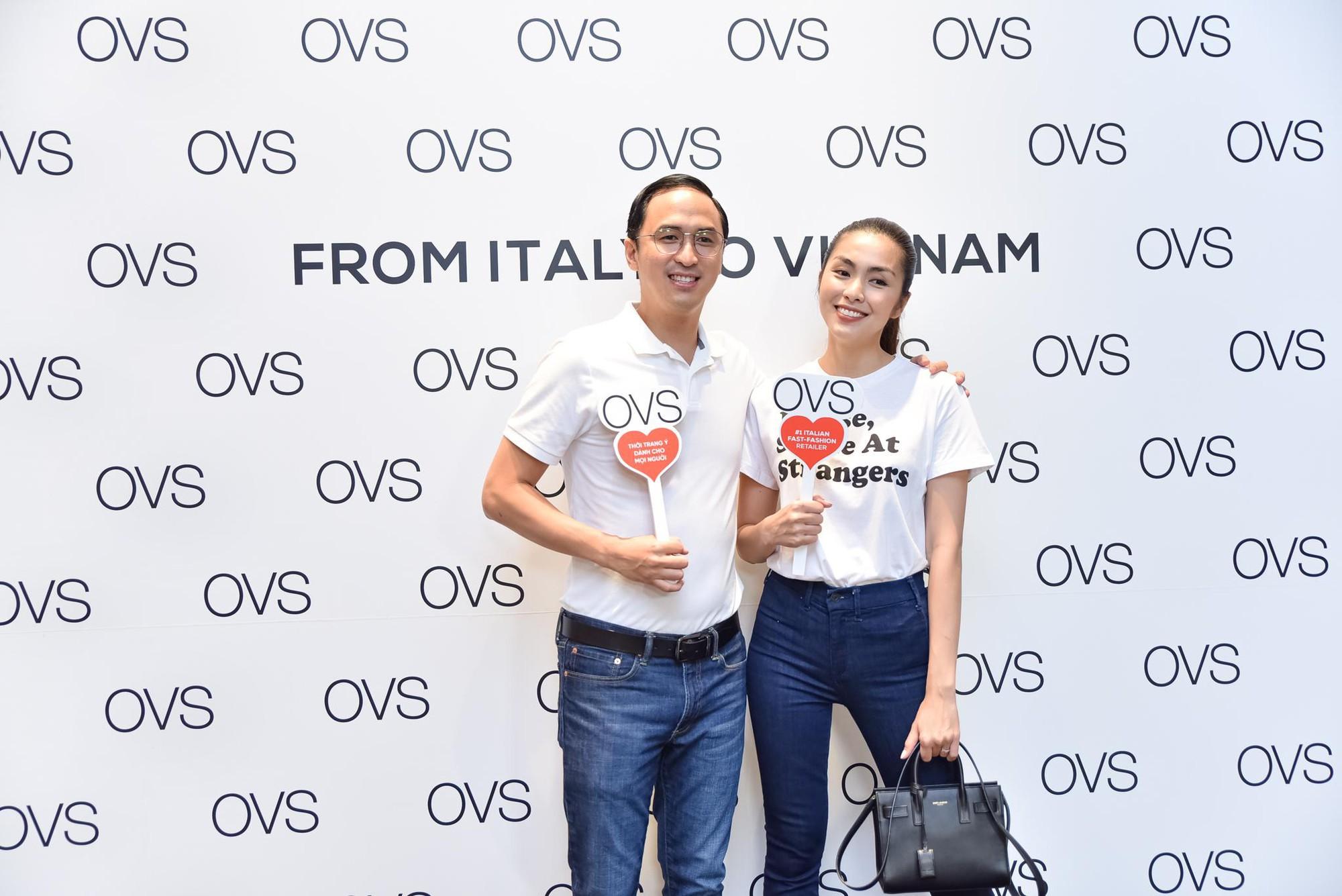 Hà Tăng rạng rỡ xuất hiện cùng chồng trong sự kiện khai trương cửa hàng OVS đầu tiên tại Việt Nam - Ảnh 2.