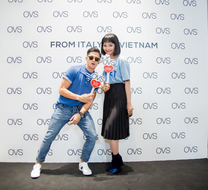 Hà Tăng rạng rỡ xuất hiện cùng chồng trong sự kiện khai trương cửa hàng OVS đầu tiên tại Việt Nam - Ảnh 4.