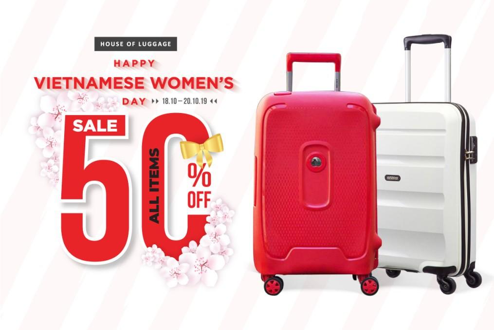 House Of Luggage tặng ưu đãi lớn mừng ngày Phụ nữ Việt Nam 20/10 - Ảnh 1.