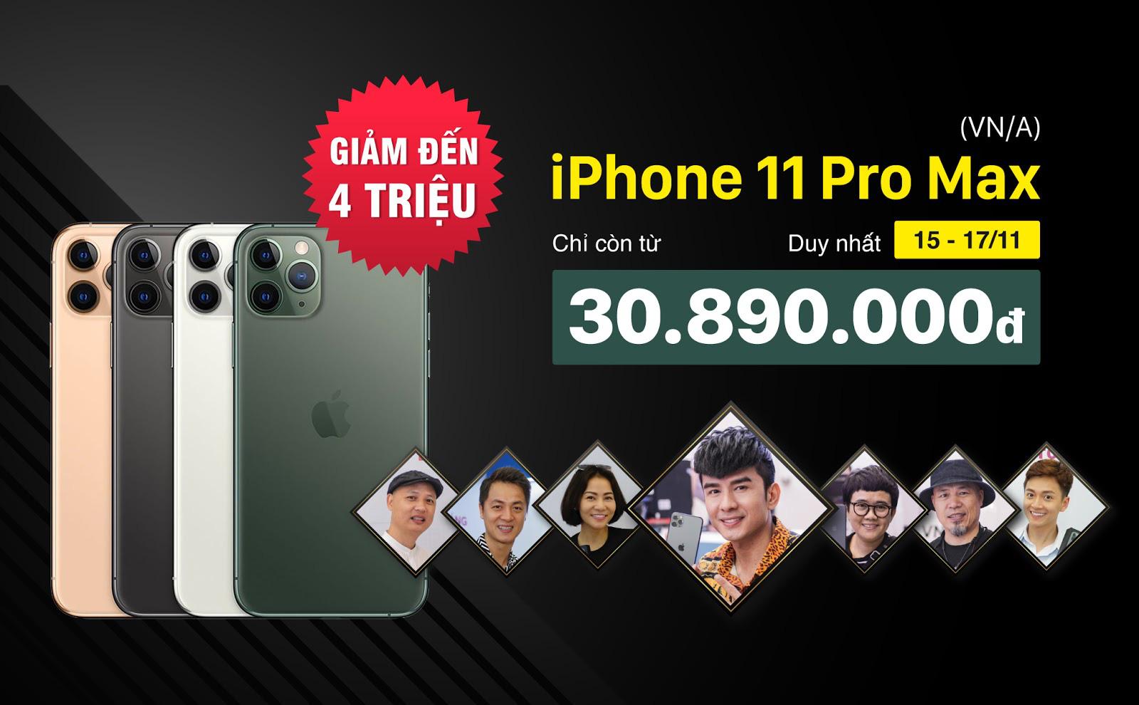 3 ngày cuối tuần, iPhone 11 Pro Max VNA giảm đến 4 triệu đồng tại Di Động Việt - Ảnh 1.