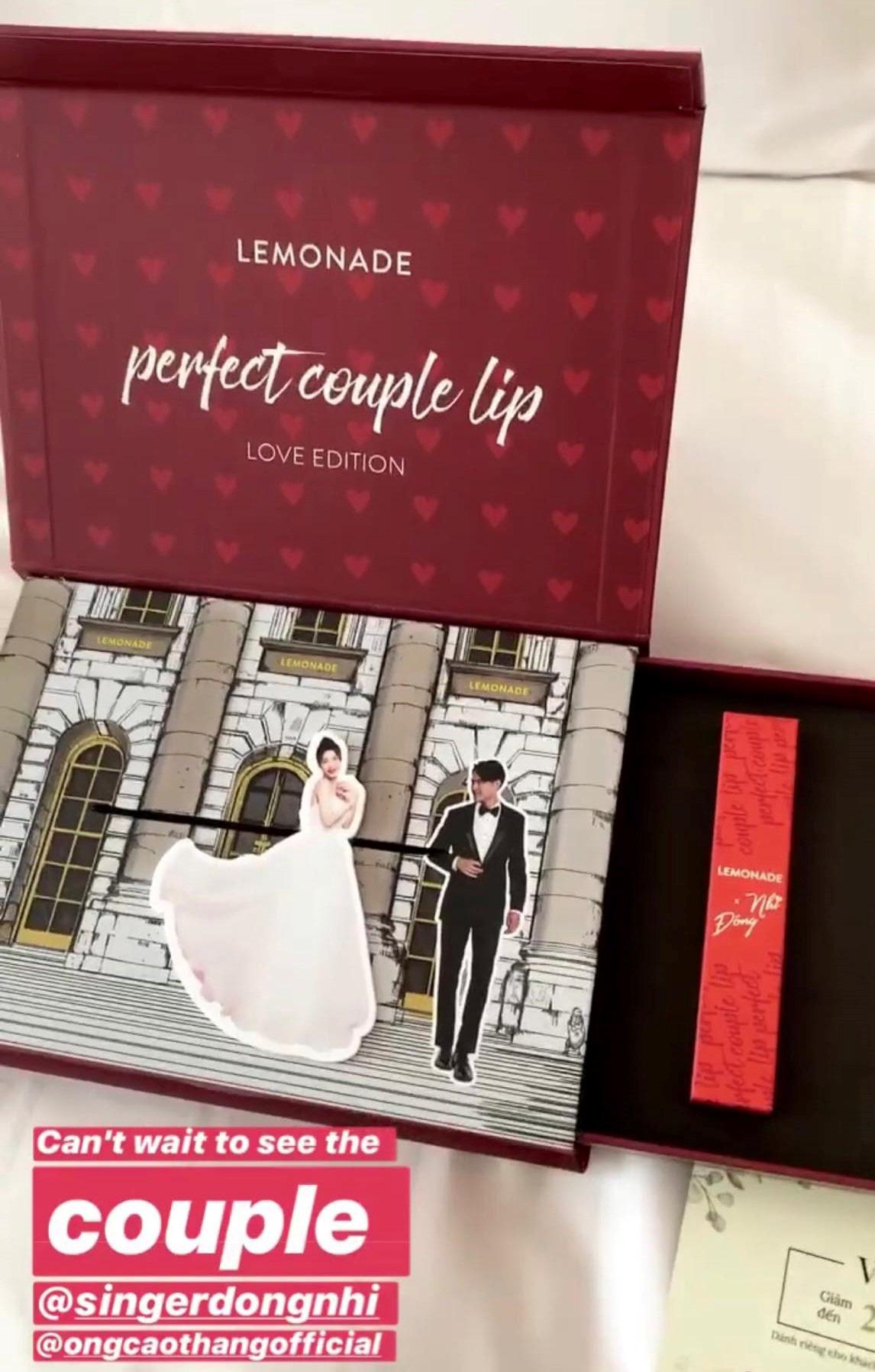 """Dân mạng ráo riết truy lùng màu son Đông Nhi dùng trong lễ cưới và """"quà tặng tận giường"""" của 500 khách mời - Ảnh 4."""