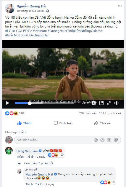 Quang Hải chia sẻ đoạn clip nói thay tiếng lòng người hâm mộ ngay trước thềm SEA Games 30 - Ảnh 2.