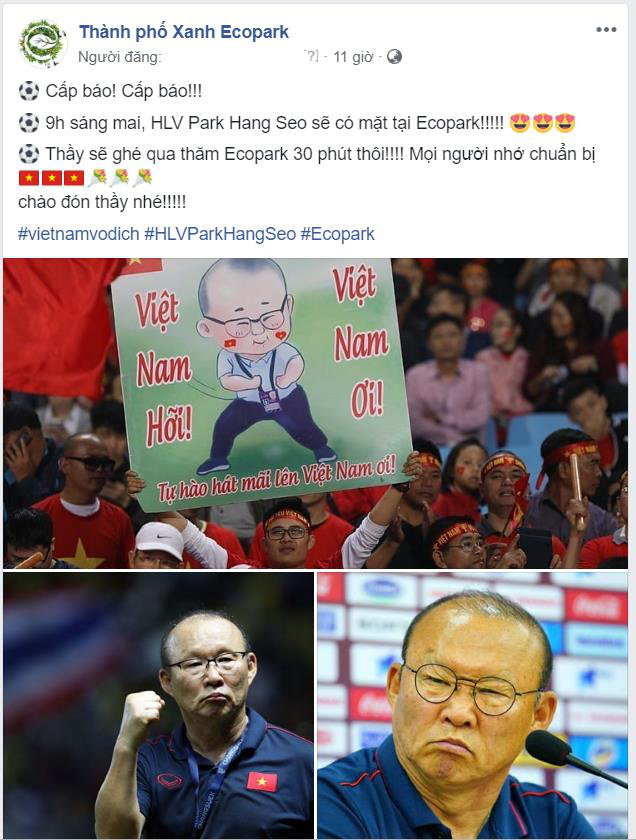 Người hâm mộ cuồng nhiệt với thầy trò HLV Park Hang Seo và thủ môn Đặng Văn Lâm - Ảnh 2.