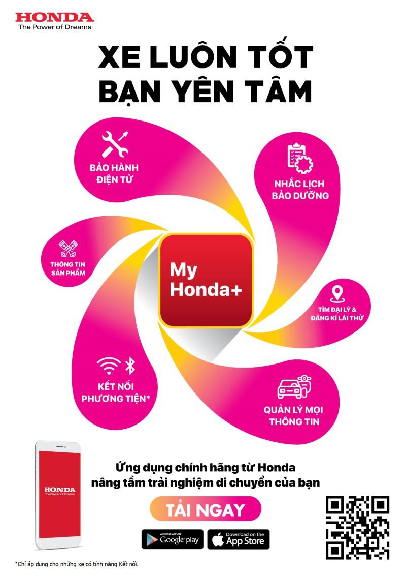 Honda Việt Nam chính thức đi vào hoạt động ứng dụng My Honda+, tối ưu trải nghiệm người dùng - Ảnh 1.