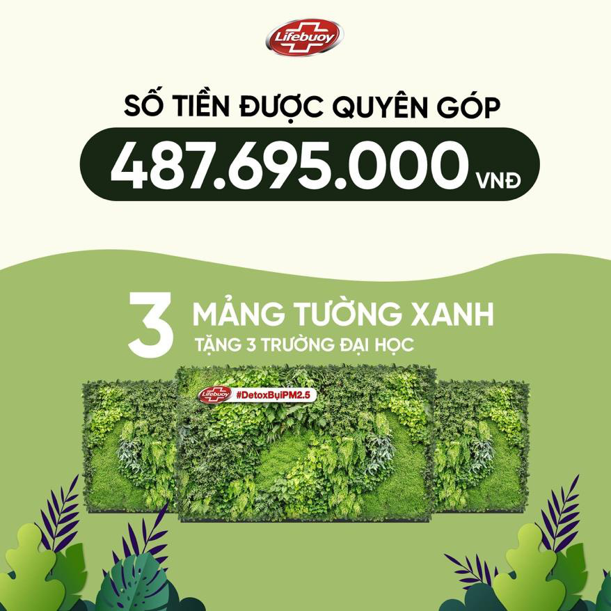 Tiếp nối thành công thử thách detox siêu bụi mịn, những bức tường cây đầu tiên dần hình thành tại 3 trường đại học của Việt Nam - Ảnh 5.