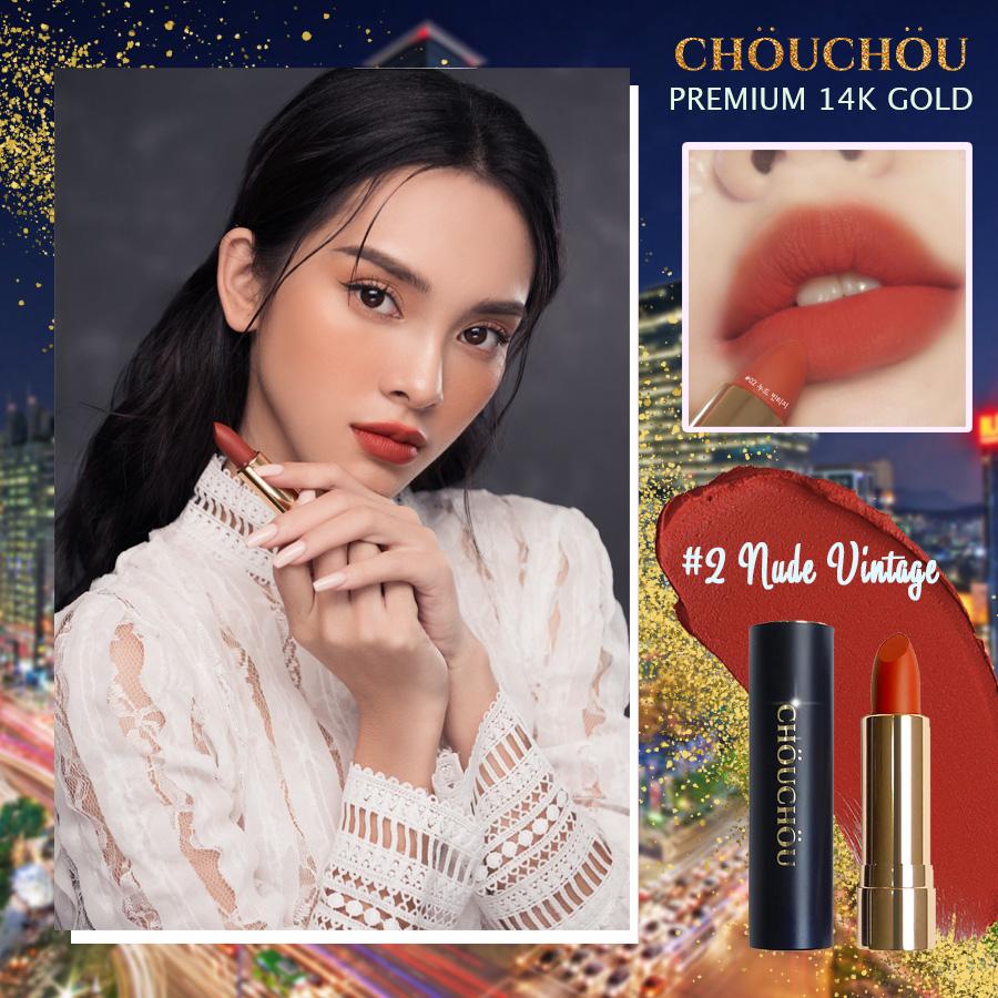 ChouChou ra mắt dòng son mạ vàng Premium Matte 14k Gold Edition chinh phục các beauty blogger khó tính - Ảnh 6.