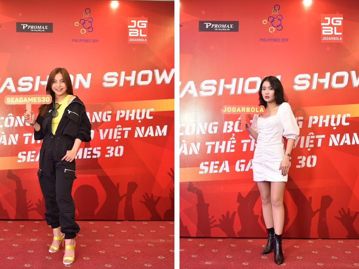 Bạn gái Văn Hậu xinh đẹp tại Fashion Show ra mắt trang phục Sea Games 30 - Ảnh 1.