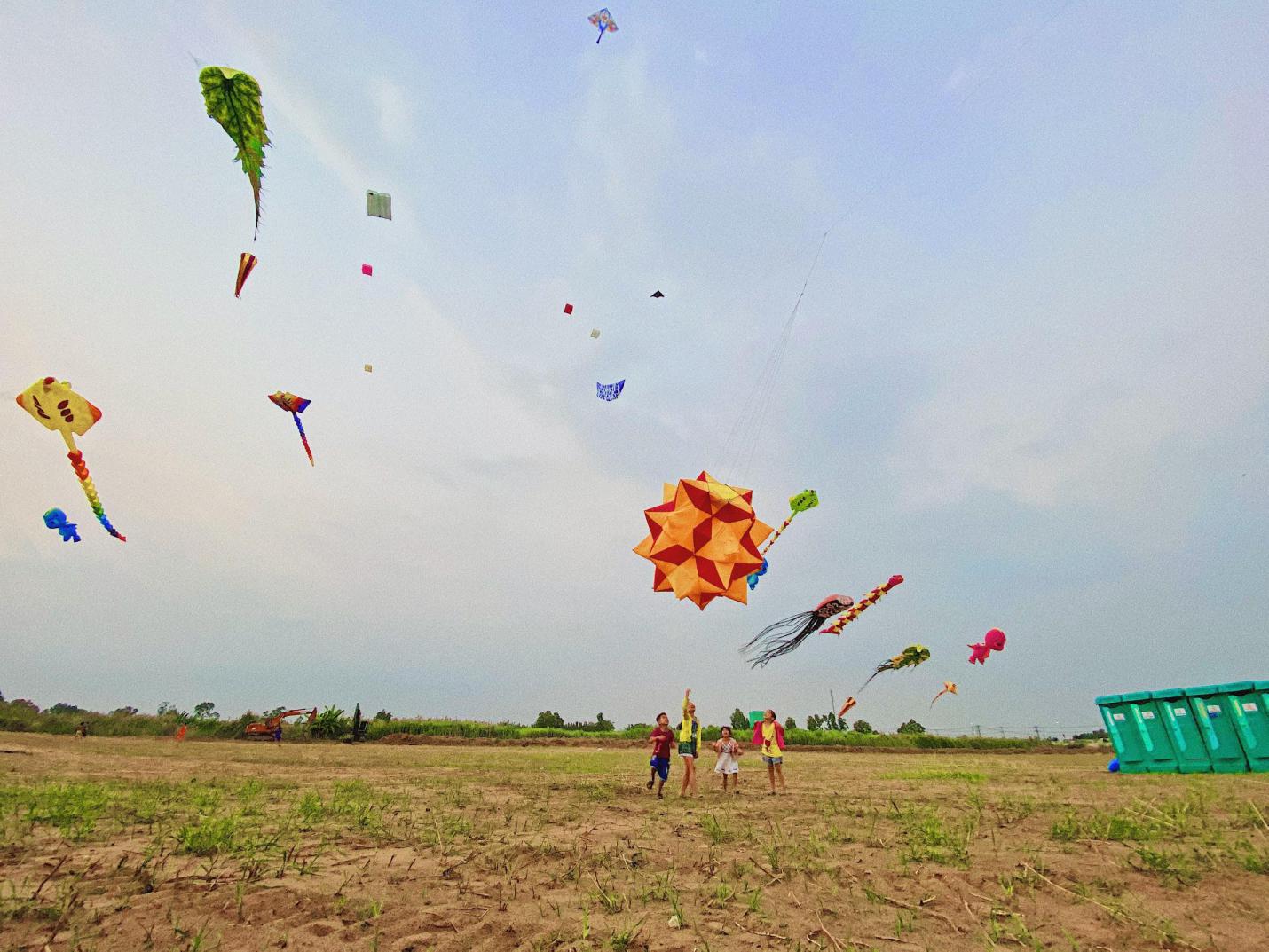 Một vé ôn lại tuổi thơ với cánh đồng diều lộng gió ngay sát Sài Gòn - Ảnh 1.