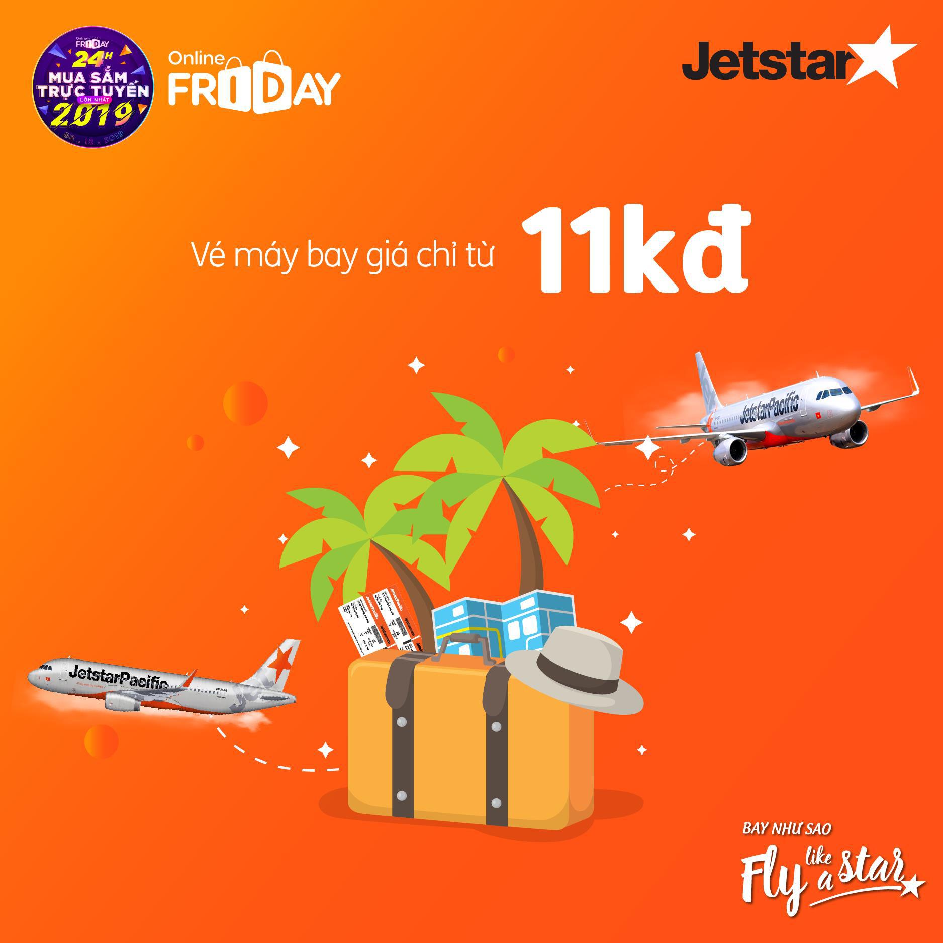 Sau Black Friday, Jetstar đại náo Online Friday với vé 11.000đ - Ảnh 1.