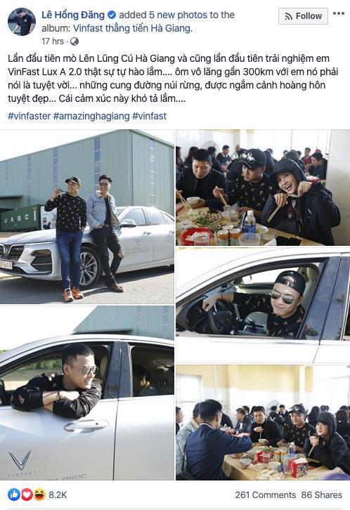 Dàn sao Việt rủ nhau thẳng tiến Hà Giang, ai cũng tự hào vì được lái VinFast - ảnh 1