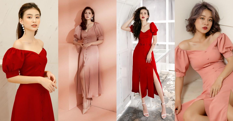 Dàn mỹ nhân Việt đồng loạt đụng hàng mẫu váy siêu hot của thời trang BELY - Ảnh 1.