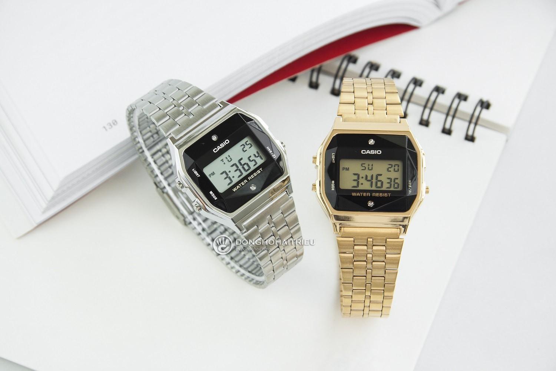 5 mẫu đồng hồ điện tử nữ có đính kim cương thật - Ảnh 1.