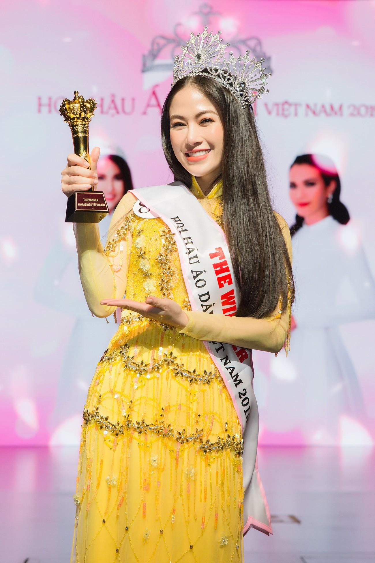 Giọng ca Sao Mai đăng quang Hoa hậu Áo dài Việt Nam 2019 - Ảnh 1.