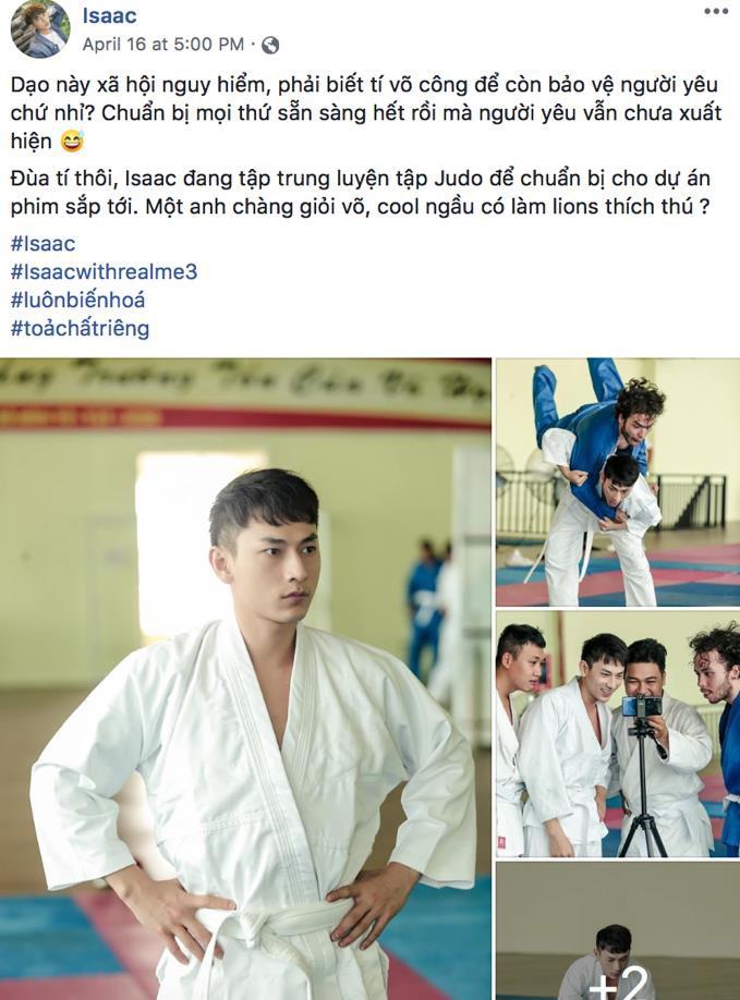 """Isaac cật lực tập võ Judo cho vai diễn mới bên cạnh """"người bạn"""" Realme 3 - Ảnh 2."""