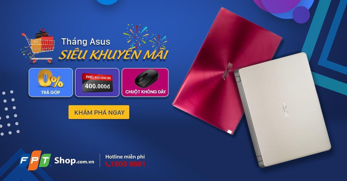 Dễ dàng sở hữu laptop Asus với chỉ từ 5,29 triệu đồng tại FPT Shop - Ảnh 1.