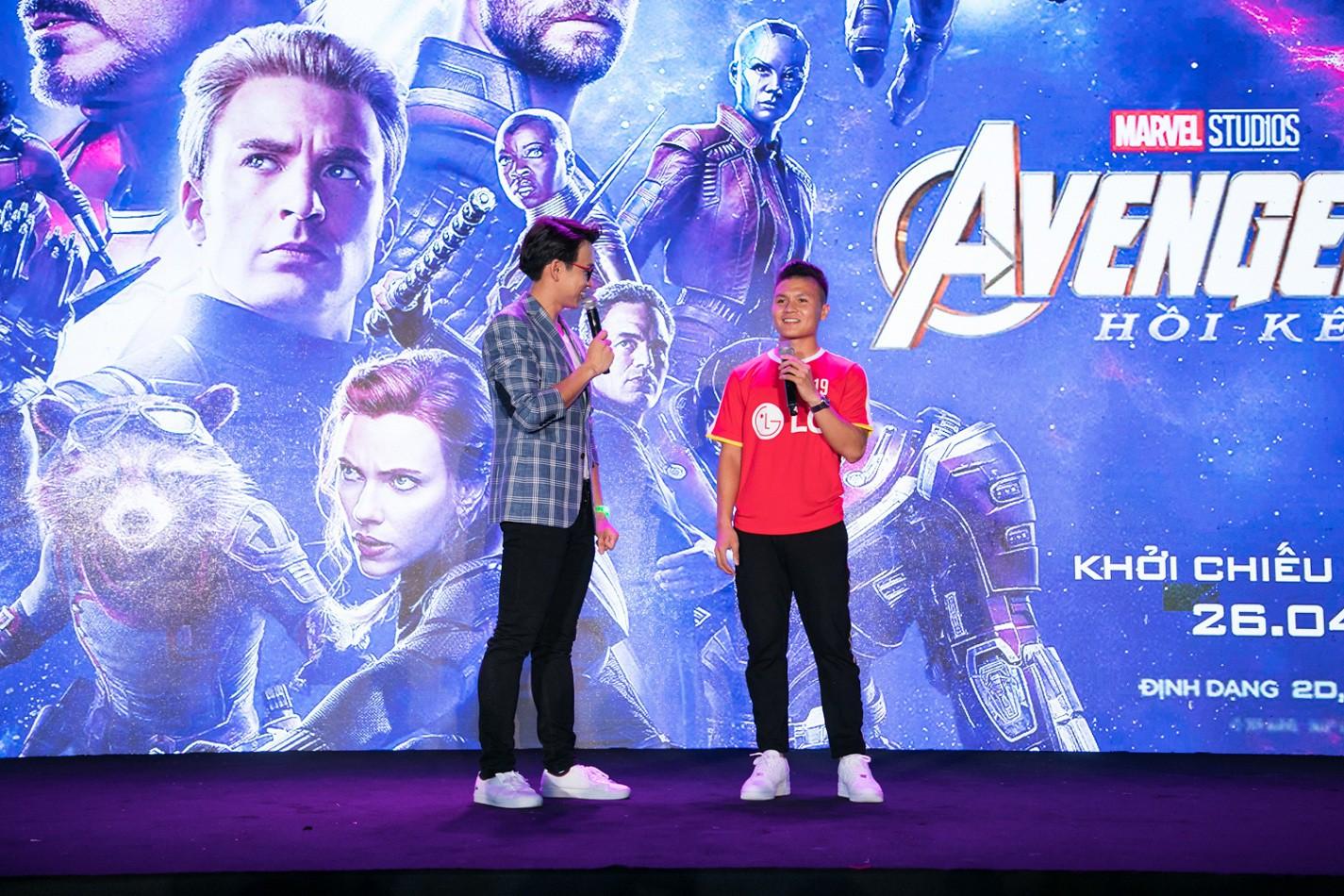 Bắt gặp Quang Hải xuất hiện tại buổi ra mắt Avengers: Endgame - Ảnh 1.